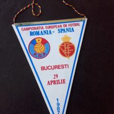 Fanion Handbal Romania Spania 29 aprilie 1987