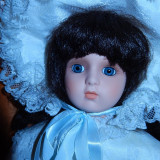 Papusa portelan Miss Clarita-superba - Papusa de colectie