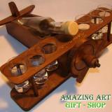 Avion lemn cu 6 pahare