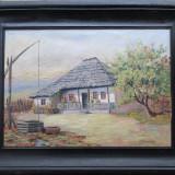 Peisaj cu casa veche - semnat  I.Dobosariu