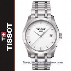 Ceas Tissot Couturier Quartz Lady  White  NOU !!!, Lux - elegant, Inox