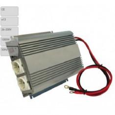 Invertor de tensiune auto Carpoint 24V-230V 1000W-2400W 50Hz cu protectii la supra-sarcina baterie descarcata supravoltaj scurt-circuit - Invertor Auto