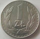 Moneda 1 Zlot - POLONIA, anul 1986 *cod 3612 xF+, Europa, Aluminiu
