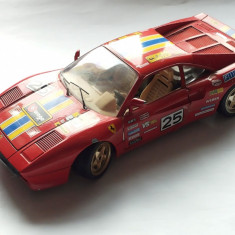 FERRARI GTO 1984-MACHETA BURAGO SCARA 1/18-MADE IN ITALY-ROG CITITI DESCRIEREA - Macheta auto Bburago