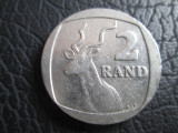 Africa de Sud _ 2 rand _ 1991, Cupru-Nichel
