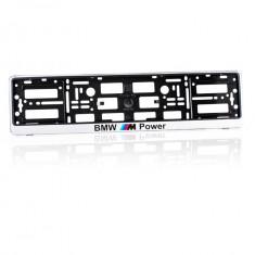 Suporti numar inmatriculare BMW M POWER - CROM (set 2 buc) - Suport numar Auto