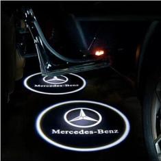 Proiectoare in portiera cu Logo Mercedes GLK, A, B Class