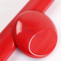 Folie colantare auto Carbon 3D - ROSU (1m x 1, 27m) - Folie Auto