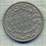 7795 MONEDA- ELVETIA - 2 FRANCS - anul 1968 -starea ce se vede, Europa