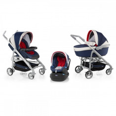 Carucior 3 in 1 Chicco Trio Love, car kit, 0luni+, Navy - Carucior copii 3 in 1