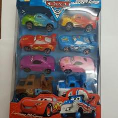 Set Masinute Cars de jucarie 8 buc/set, 4-6 ani, Plastic