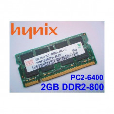 Memorie Laptop SODIMM slot 2GB DDR2 800mhz PC2-6400 (1 Buc.x2 Gb) Testate L09 - Memorie RAM laptop, Dual channel