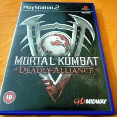 Joc Mortal Kombat Deadly Alliance, PS2, original, alte sute de jocuri! - Jocuri PS2 Altele, Actiune, 18+, Multiplayer