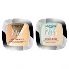 Pudra L'oreal Paris iluminatoare 3 in 1 Loreal True Match Highlight originala