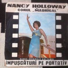 IMPUSCATURI PE PORTATIV NANCY HOLLOWAY DISC SINGLE VINYL Muzica Pop electrecord ROCK ANII 60, VINIL