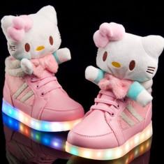 Adidasi Ghete H.Kitty LED. Disponibili in 2 culori. *** NEW COLLECTION *** - Ghete copii, Marime: 26, 27, 28, 29, 30, 31, 32, Culoare: Rosu, Roz, Fete