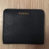 Portofel Fossil - Portofel Dama Fossil, Culoare: Albastru, Cu inchizatoare
