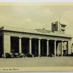 BUCURESTI - GARA DE NORD - TAXIURI DE EPOCA - PERIOADA INTERBELICA - Carte Postala Muntenia dupa 1918, Necirculata, Fotografie
