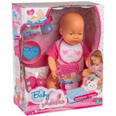 Baby Amore Pipi Popo fetita papusa interactiva Giochi Preziosi, 4-6 ani
