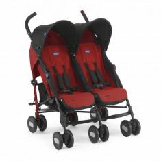 Carucior gemeni Chicco Echo Twin, Garnet, 0luni+ - Carucior copii 2 in 1