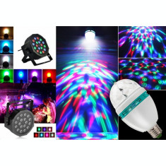 Glob Laser PROIECTOR tip Star Shower+ BEC DISCO CRACIUN LED Lumini CLUB PARTY