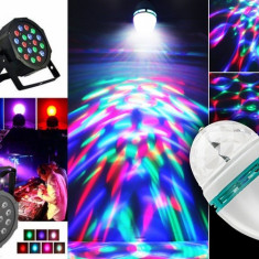 Glob Laser PROIECTOR tip Star Shower+ BEC DISCO CRACIUN LED Lumini CLUB PARTY - Instalatie electrica Craciun