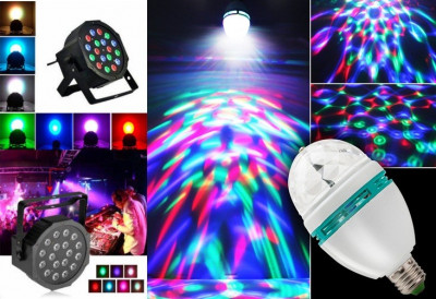 Glob Laser PROIECTOR tip Star Shower+ BEC DISCO CRACIUN LED Lumini CLUB PARTY foto