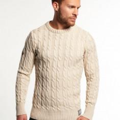 Pulover Mens Superdry Knitwear Cream - Pulover barbati Superdry, Marime: M/L, Culoare: Crem