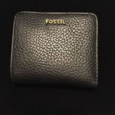 Portofel Fossil - Portofel Dama Fossil, Culoare: Negru, Negru, Cu inchizatoare