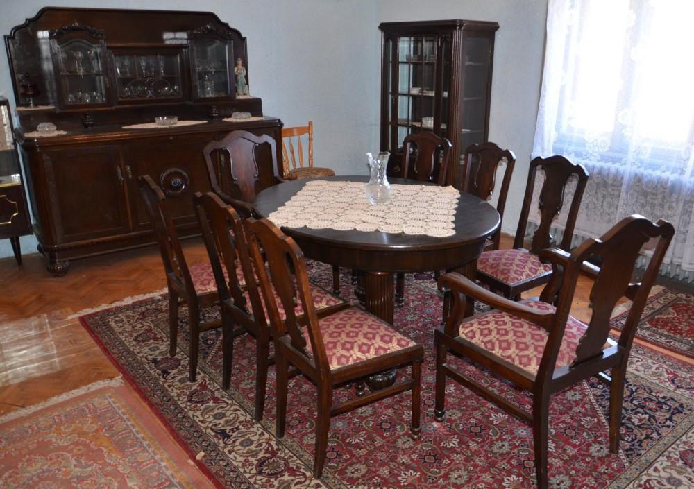 sufragerie din lemn masiv stil lenghel din perioada anilor 1920 stare excelenta sufragerii si. Black Bedroom Furniture Sets. Home Design Ideas