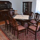 Sufragerie din lemn masiv stil Lenghel din perioada anilor 1920 stare excelenta
