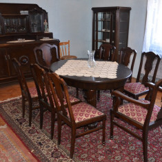 Sufragerie din lemn masiv stil Lenghel din perioada anilor 1920 stare excelenta, Sufragerii si mobilier salon, 1900 - 1949