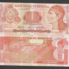 HONDURAS 1 LEMPIRA 2004 UNC [1] P-84d, necirculata - bancnota america