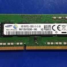 Memorie laptop SODIMM DDR3 samsung 4gb 1Rx8 PC3L -12800S-11-13-B4, garantie - Memorie RAM laptop Samsung, 1600 mhz