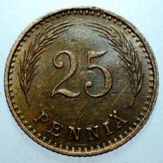 B.984 FINLANDA 25 PENNIA 1943, Europa, Cupru (arama)