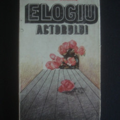 HORIA DELEANU - ELOGIU ACTORULUI