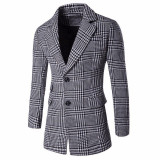 Sacou Blazer Palton Black White. NEW COLLECTION - Palton barbati, Marime: S, M, L, Culoare: Din imagine