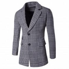 Sacou Blazer Palton Black White. NEW COLLECTION - Palton barbati, Marime: S, M, L, Culoare: Din imagine