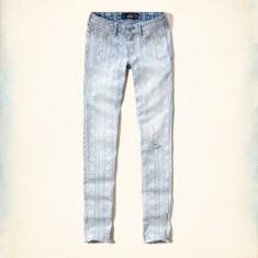 BLUGI HOLLISTER mas.26W R-super skinny-originali - Blugi dama Firetrap, Culoare: Bleu, Lungi, Joasa