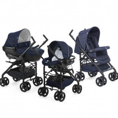 Carucior 3 in 1 Chicco Trio Sprint, car kit, BluePassion, 0luni+ - Carucior copii 3 in 1