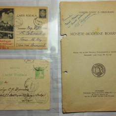 MONEDE MODERNE ROMANESTI -CONST.URZICEANU - CU DEDICATIE - 2 C.P. ALE AUTORULUI - Moneda Romania