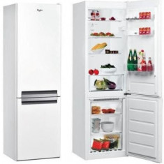Combina frigorifica Whirlpool BSNF 8121 W, Clasa energetica A+, Capacitate neta 315 L, Supreme, Tehnologie al 6-lea simt, No Frost, Alb