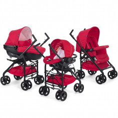 Carucior 3 in 1 Chicco Trio Sprint, car kit, RedPassion, 0luni+ - Carucior copii 3 in 1