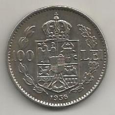ROMANIA 100 LEI 1936 [10] livrare in cartonas - Moneda Romania, Nichel