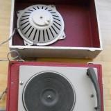 un pickup cu 4 viteze pick-up patefon gramofon vechi de colectie pe  lampi