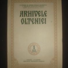 ARHIVELE OLTENIEI serie noua, numarul 1, coperti cartonate, 1981 - Carti ortodoxe