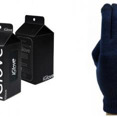 Manusi iGlove pentru touch screen unisex pt telefon, tableta - albastru inchis - Manusi touchscreen