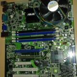 Kit lga 775 ASUS P5BV-C +intel xeon quad core x3210 de 2.13 ghz - Placa de Baza Asus, Pentru INTEL, DDR2, Contine procesor