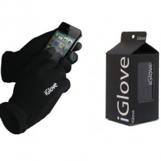 Manusi iGlove pentru touch screen unisex pt telefon, tableta - negru - Manusi touchscreen
