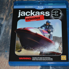 Film - Jackass 3 - Johnny Knoxville, Phil Margera [Blu-Ray + DVD], Import Suedia - Film comedie paramount, Engleza